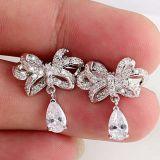 은 CZ 입방 지르코니아 다이아몬드 지르콘 금 귀걸이