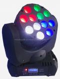 lumière mobile de faisceau de la tête DEL du mini CREE 12*10W