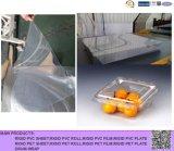 Feuille rigide de vente chaude de PVC de plastique avec le film protecteur