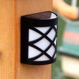 Солнечный приведенный в действие светильник курса ярда безопасности сада загородки движения 6 СИД датчика индукции держателя света стены светильников СИД автоматический напольный