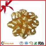 Cinta del abrigo de regalo impreso PP sólidos y metálicos de la estrella del arco combinada para la Navidad