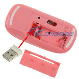 2.4GHz Wireless Ultra-Thin Laser Optical Mouse mit USB Mini Receiver