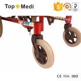 Fauteuil roulant arrière élevé étendu d'enfants d'infirmité motrice cérébrale d'aluminium de Topmedi