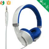 Alta calidad al por mayor del fabricante sobre el receptor de cabeza estéreo atado con alambre oído del auricular MP3