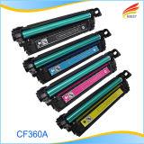 Cartucho de toner compatible a estrenar del HP 508A CF360A CF361A CF362A CF363A