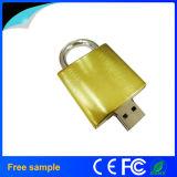 2016 선전용 선물 금 금속 자물쇠 모양 8GB USB 섬광 드라이브