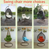 고리 버들 세공 발코니 방석 색깔 선택권과 대를 가진 거는 계란 의자