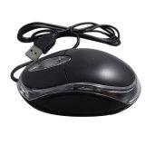 USB LED에 의하여 타전되는 마우스 일폭 바퀴 소형 광학적인 컴퓨터 마우스