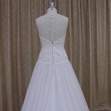 Линия платье шеи lhbim венчания шкафута Bridal платья низкое