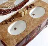 Cupc weißes keramisches Badezimmer-Wäsche-Bassin für Unterkostenzähler (SN007)
