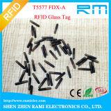 Tag de vidro animal da cápsula do Lf 125kHz RFID para cães