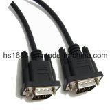 Горячий продавая кабель VGA m штепсельной вилки 15-Pin \ m Mointor выдвинутый