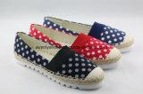 Удобная обувь ботинок холстины способа с картиной пятна