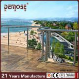 Balustrade de fil d'acier inoxydable de Decking (DMS-B22117)