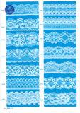 Elástica tela del cordón de la ropa / ropa / zapatos / bolso / la caja M019 (ancho: 8 cm)