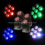 Preiswerteres Mini 7*10W RGBW 4 in 1 DJ Disco Party LED Wash Moving Head Light