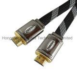 Cavo piano dell'intelaiatura di alluminio HDMI con la maglia di nylon