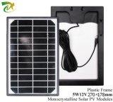 5W 12V Mono Solar Panel con l'OEM Design di Plastic Frame