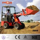Mit Palletengabel de Radlader del cargador de la rueda de Maschine de la granja de la agricultura de Certifiziert del Ce de Everun Er06 mini