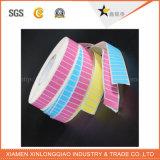 Bello autoadesivo termico stampato variopinto del documento del codice a barre di servizio di stampa del contrassegno