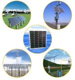 45W TUV/Ce anerkannter monokristalliner Sonnenkollektor