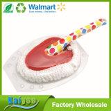 Cepillo limpio profesional del hilo de algodón con la maneta de la impresión