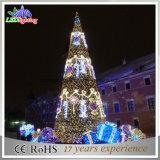 De commerciële LEIDENE van het Motief van de Decoratie van de Vertoning Openlucht Reuze Kunstmatige Aangestoken Kerstboom van het Glas met Bal