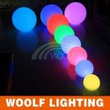 변화 원격 제어 LED 훈장 공 빛을 착색하십시오