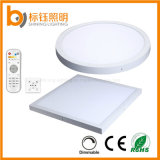 400x400mm 30W LED de techo Downlight Lámpara de techo regulable en color 2700-6500K Transformación por DMX Panellight