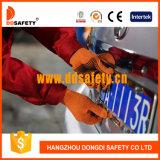 Хлопок 2017 Ddsafety или связанные полиэфиром многоточия PVC перчаток