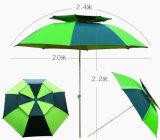二重層の魚の傘、屋外の傘、折る傘
