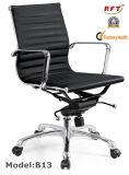 Cadeira executiva do couro de alumínio moderno da mobília do giro do escritório (A12)
