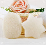 Facial Cleaning를 위한 심혼 Shape Konjac Sponge