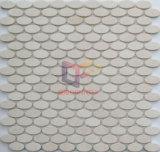 楕円形の形の自然な大理石の石造りのモザイク(CFS1083)