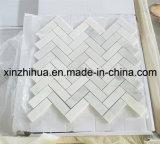Mosaico bianco puro del marmo del mosaico