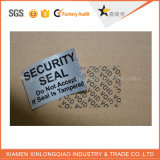 Custom Security Label Printing Companyの銀のタンパー明白な無効のステッカー