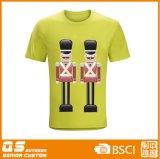 남자의 혼합 인쇄 형식 빠른 건조한 t-셔츠