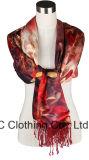 Écharpe de collet colorée en gros de soie des dames 100%