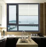 La ventana del marco del capítulo/de aluminio de aluminio hace pivotar hacia fuera la ventana para vender