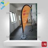 Bandierina di spiaggia esterna della bandiera del basamento per la pubblicità (fornitore su ordinazione)
