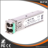 Transceptor ótico superior 1.25G 1550nm 80km LC frente e verso do SFP