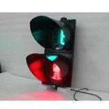 feu de signalisation piétonnière vert rouge de 300mm avec le rupteur d'allumage de compte à rebours