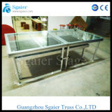 Étape de verre trempé de Combinated, étape en verre organique, étape se pliante
