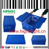 多彩なプラスチックFoldableおよび携帯用バスケットの記憶の木枠ボックス