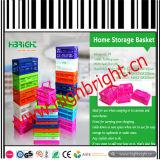 다채로운 플라스틱 Foldable와 휴대용 바구니 저장 크레이트 상자