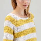 Señora Oversized Cotton Sweatershirt por diseño que hace punto