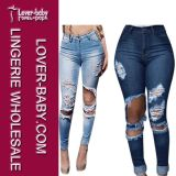 方法デニムの熱い女性のジーンズ(L450-1)