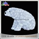 Напольный свет мотива медведя украшения 3D праздника рождества СИД акриловый