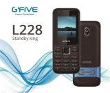 Telefone da caraterística do telefone móvel de telefone de pilha de Gfive L228 da espera longa com o FCC duplo grande do Ce do altofalante alto SIM da bateria Certificated