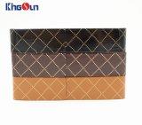 Handgemachter Fall-Anzeigen-Glas-Kasten mit Muster PU-Kasten Kh1015